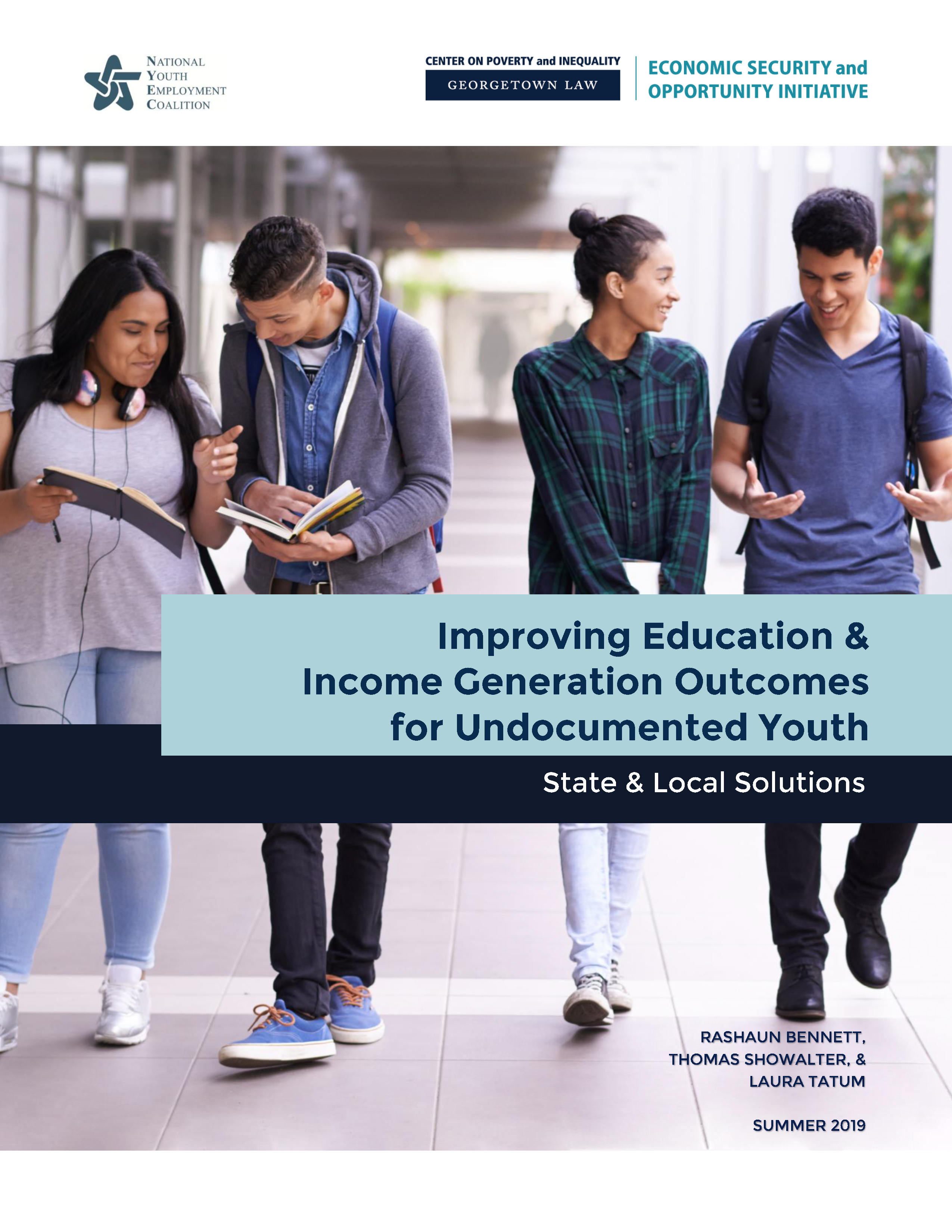 GCPI-NYEC - Education and Income Undocumented Youth Report, Cover - 20190829