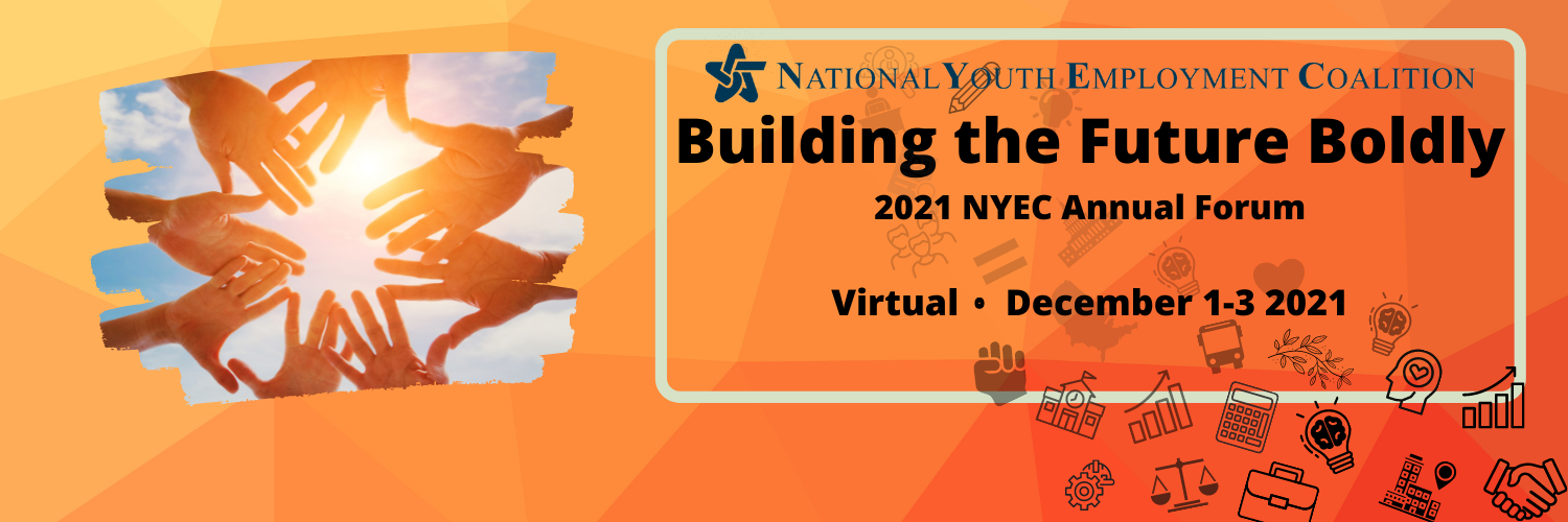 NYEC Annual Forum Building the Future Bodly Banner